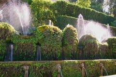 Les cent ` Este de la villa D de fontaines photos libres de droits