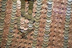 Les centaines d'un penny invente le détail Image stock