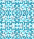 Les cercles abstraits se développent en spirales fond de modèle et te bleus et blancs Photo stock