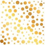 les cercles d'or modèlent le fond, peuvent être employés comme PAP de emballage Images stock