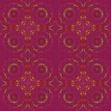 Les cercles floraux sans couture réguliers modèlent le vert orange pourpre violet Photo libre de droits