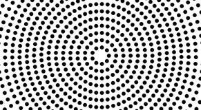 Les cercles forment un tunnel noir et blanc, illusion optique illustration de vecteur