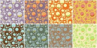 les cercles modèlent sans joint Illustration de Vecteur