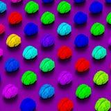 Les cerveaux de style d'art de bruit aiment le poly modèle d'illustration Photo libre de droits
