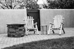 Les chaises de patio Photographie stock