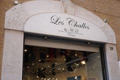 Les Challes door McQ opslag in Rome, Italië stock foto