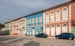 Les Chambres colorées dans le sao Luis font Paraitinga Image libre de droits