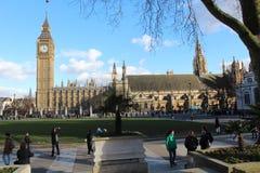 Les Chambres du Parlement Big Ben Image stock