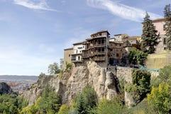 Les Chambres s'arrêtantes, Cuenca, Espagne Image libre de droits