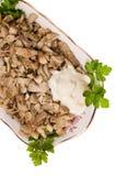 Les champignons de couche préparés. Image libre de droits