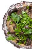 Les champignons de couche préparés. Photos libres de droits
