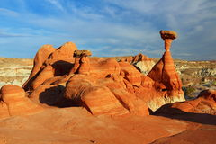 Les champignons en monument national d'Escalante, Utah photo stock