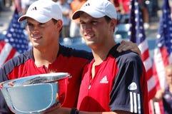 Les champions USA de Bryan Mike et de Bob ouvrent 2008 photos stock