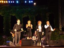 Les chanteurs bulgares populaires vivent concert Photo stock