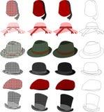 Les chapeaux dénomment le positionnement Photo stock