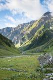 Les Chapieux landskap Arkivfoton