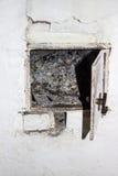 les charbons et la cendre dans le four russe Photographie stock libre de droits