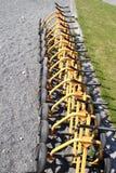 Les chariots au terrain de golf du Lofoten Images libres de droits