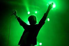 Les charlatans (groupe de rock indépendant anglais) au festival de BOBARD Photos libres de droits