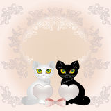 Les chats et chauffe illustration stock