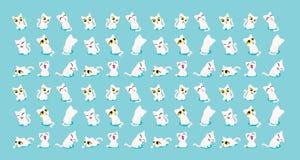 Les chats sont ragoût mignon de rat illustration stock