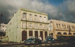 Les chauffeurs de taxi Vinales, Cuba Photo stock