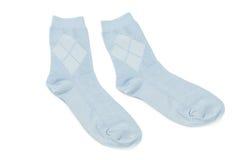 Les chaussettes des enfants d'isolement sur le fond blanc Images stock