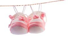 Les chaussons de la chéri Photo libre de droits