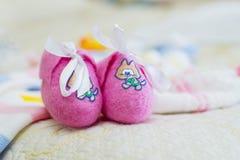 Les chaussons des enfants Photographie stock