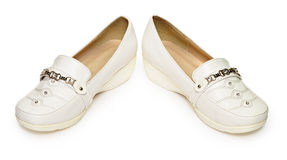 Les chaussures bon marché ont effectué à ââof le cuir artificiel Photo stock