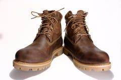 Les chaussures brunes des hommes Image stock