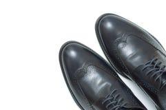 Les chaussures classiques des hommes Images libres de droits
