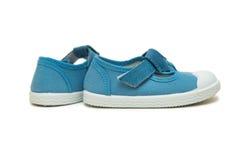 Les chaussures de bébé d'isolement sur le fond blanc Images stock