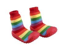 Les chaussures de l'enfant coloré Images libres de droits