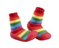Les chaussures de l'enfant coloré Photographie stock