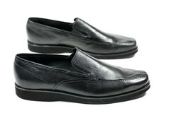 Les chaussures de l'homme de couleur Photo stock