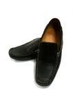 Les chaussures de l'homme de couleur d'isolement sur le blanc Photographie stock