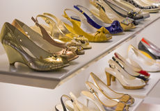 Les chaussures de la femme dernier cri Photos libres de droits