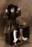 Les chaussures de la mère, le chapeau de la grand-mère Photo stock