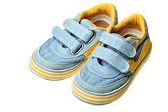 Les chaussures des enfants Photo libre de droits