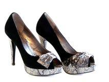 Les chaussures des femmes élégantes d'isolement Image stock