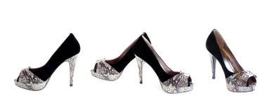 Les chaussures des femmes élégants, collage. Photographie stock libre de droits