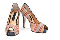 Les chaussures des femmes Photo stock