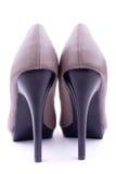 Les chaussures des femmes de paires desserrent la vue Image stock