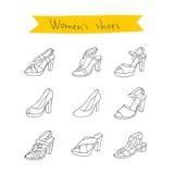 Les chaussures des femmes Vecteur Photos libres de droits