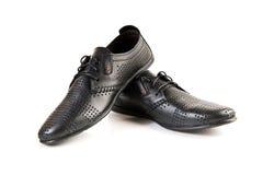 Les chaussures des hommes en cuir Photo libre de droits