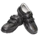 Les chaussures des hommes sont effectuées à cuir artificiel d'ââof Photos libres de droits
