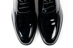 Les chaussures en cuir des hommes Photos stock