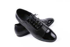 Les chaussures en cuir des hommes Photo libre de droits