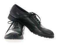 Les chaussures en cuir des hommes de couleur Image libre de droits